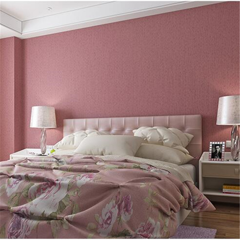 Unique Bedroom Wallpaper Warm Green Bedroom Colors Boys Bedroom Furniture Feng Shui Bedroom Bed Position: Beibehang Princess Powder Non Woven Wallpaper Bedroom Warm