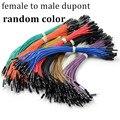 Unids 120 piezas Dupont hembra a macho Cable para Arduino macho hembra puente colorido DIY 20 cm Dupont Jumpers Cable de puente de Color