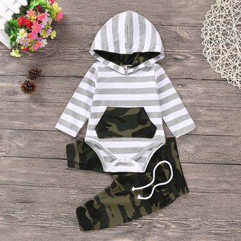 Kids Baby Boy Clothes Set Fashion Hooded Long Sleeve T-Shirt + Pants Newborns Tracksuits Spring Summer Toddler Infantil Costumes 1