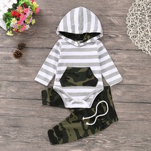 Kids Baby Boy Clothes Set Fashion Hooded Long Sleeve T-Shirt + Pants Newborns Tracksuits Spring Summer Toddler Infantil Costumes picturesque childhood official store 3 1 best quality footies long sleeve for newborns costumes hot sale