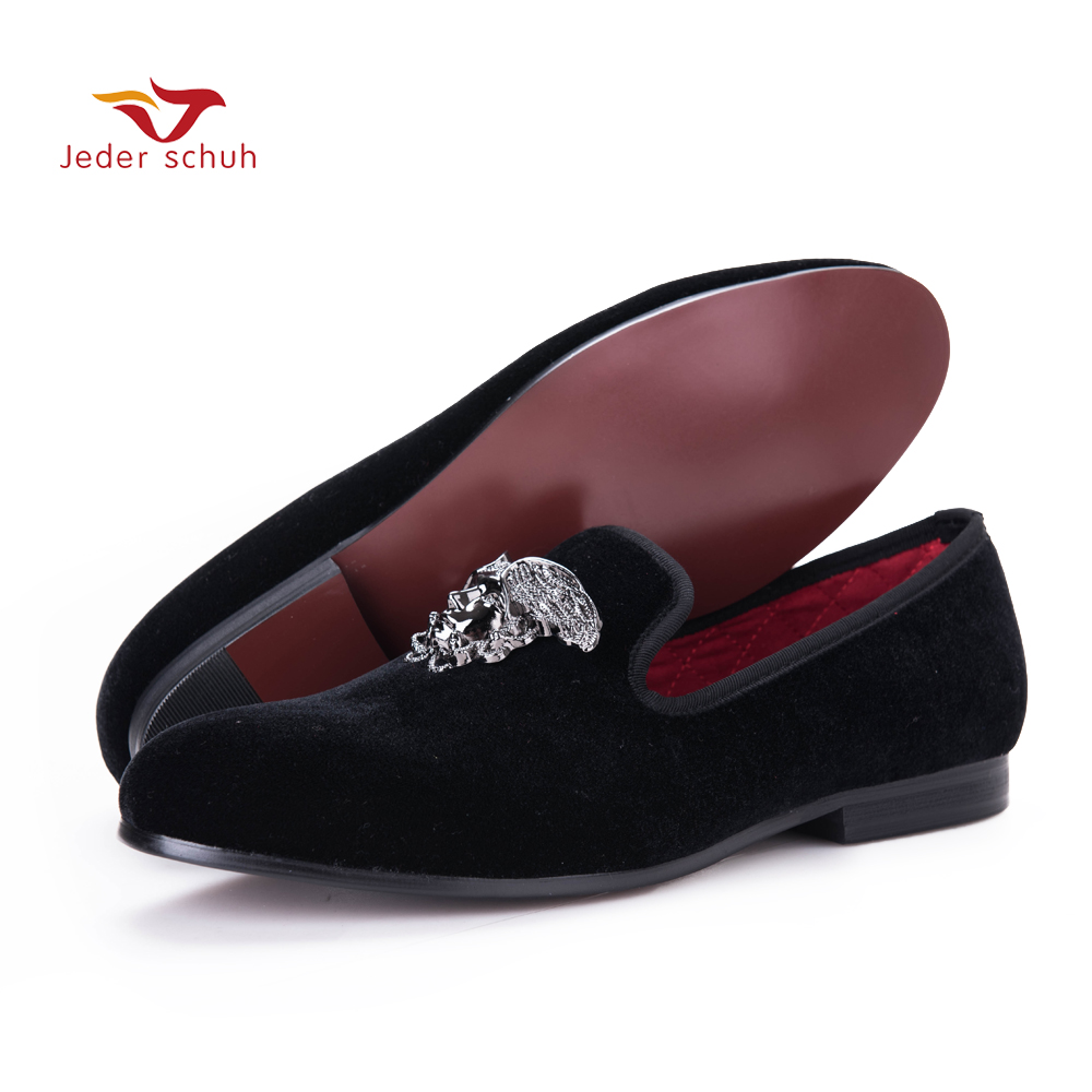 Fashion men loafers with Silver Face buckle handmade High-grade party and wedding men velvet shoes men dress shoe men's flats men loafers paint and rivet design simple eye catching is your good choice in party time wedding and party shoes men flats
