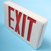 Exit Sign Led Electric Lighting Safe Letter Light With Battery Backup Indicator Emergency Lamp Multifunctional Hardwired Compact