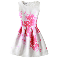 Summer Dress 2016 Dresses For Girls Of 12 20 Years Sleeveless Printed Big Size Princess Dress