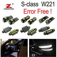 26pcs LED Bulb Interior + License plate Lights Kit for Mercedes S class W221 S250 S280 S300 S320 S350 S400 S420 S450 (2006 2013)