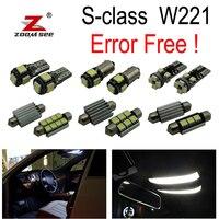 26pcs LED Bulb Interior + License plate Lights Kit for Mercedes S class W221 S250 S280 S300 S320 S350 S400 S420 S450 (2006 2013)