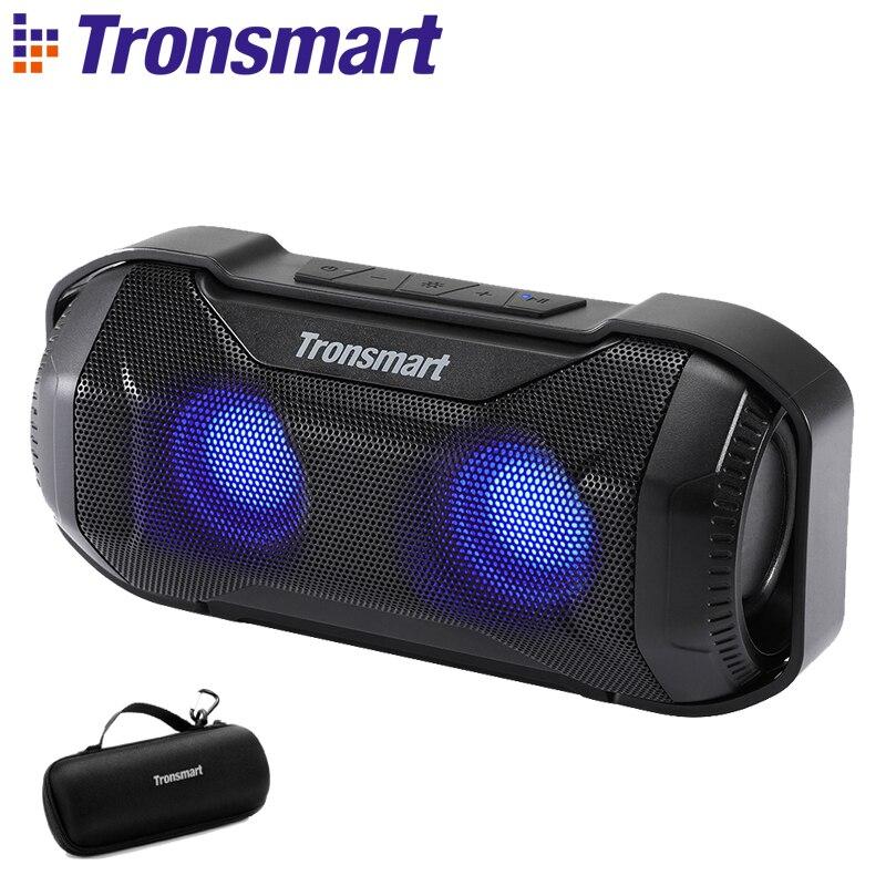 Tronsmart Blaze Bluetooth Haut-Parleur IPX56 10 w Colonne Étanche Haut-Parleur avec LED Lumières et des Basses de Qualité Supérieure pour vélo sport