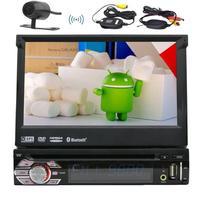 Android 6,0 один 1 Din Авто Радио Стерео dvd плеер автомобиля + gps, Bluetooth, RDS, WI FI, сенсорный экран + заднего вида Камера + пульт Управление