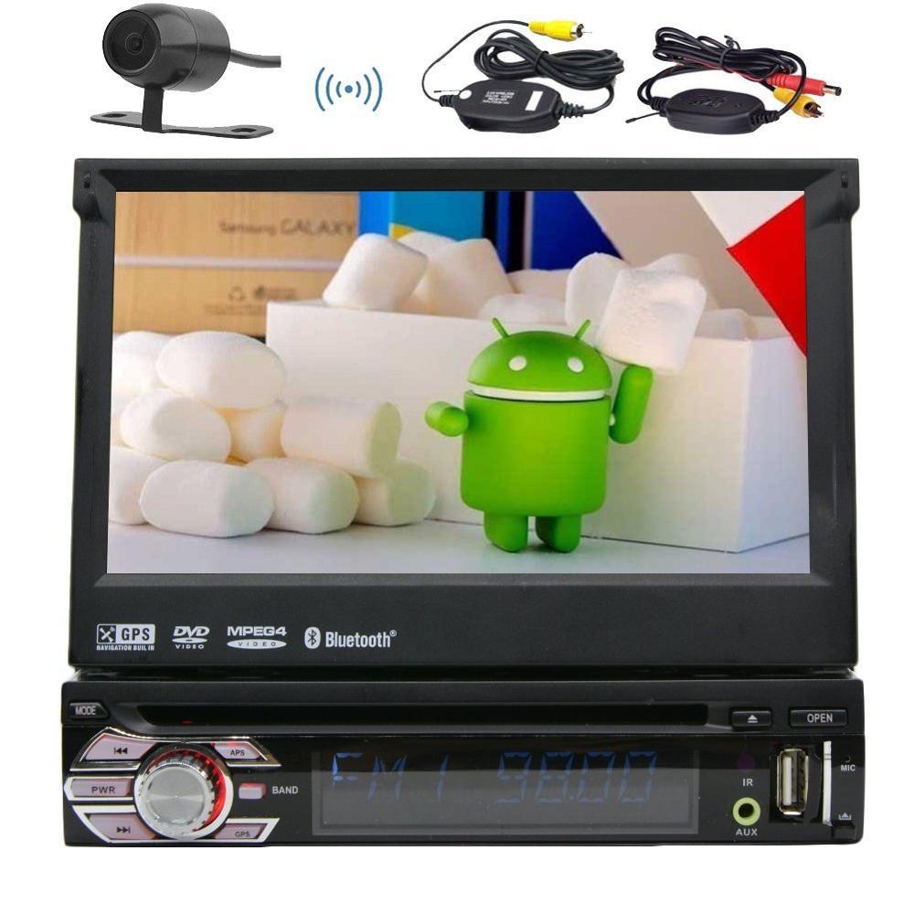 Android 6.0 lecteur DVD Auto radio stéréo 1 Din + GPS, Bluetooth, RDS, WIFI, écran tactile + caméra de recul + télécommande