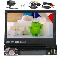 Android 6.0 single 1 Din Auto radio Stereo Car DVD Player+GPS,Bluetooth,RDS,WIFI,Touch Screen+Rear View Camera+Remote Control