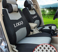 Car Seat Cover Embroidery Logo Front&Rear Complete 5 Seat Set For SUBARU LEGACY IMPREZA Dedicated Car Wraparound