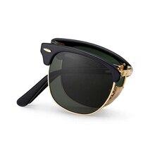 VIAHDA luneta gafas de sol Plegables de moda clásica de la vendimia Del Diseñador de la marca de diseño retro para hombres/mujeres gafas