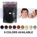 9 Colores de Polvo de Fibras Del Edificio Del Pelo Cuidado Del Cabello Productos de Recarga Bolsas 50g