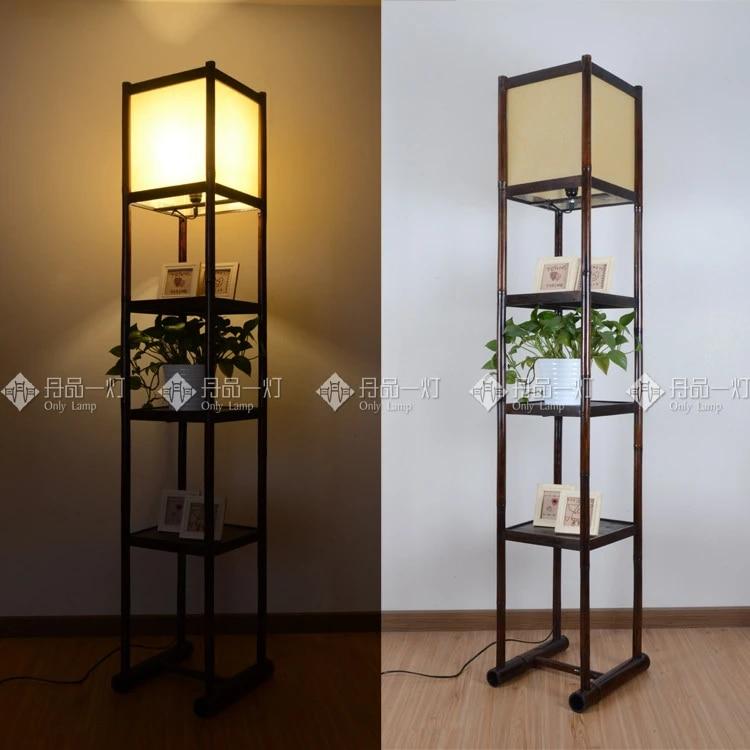 frame shop decoration southeast hotel guest bedroom hallway japanese restaurant minimalist bamboo floor lamp ikea