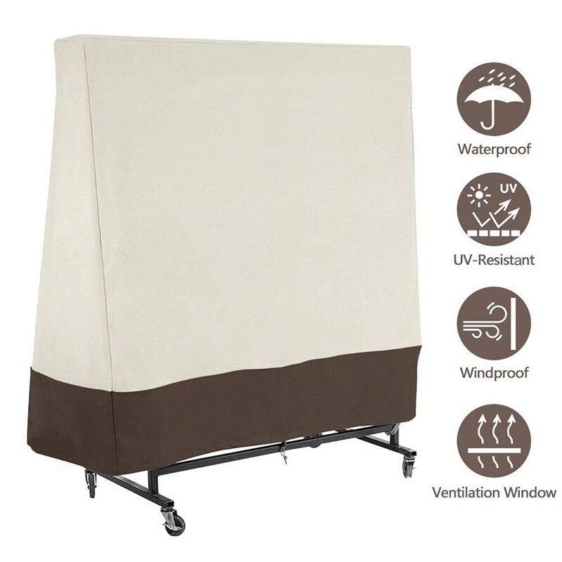 Für Ping Pong Tisch Staub Covers Schutz 300D Heavy Duty Wasserdicht Uv Tennis PingPong Tisch Lagerung Abdeckung