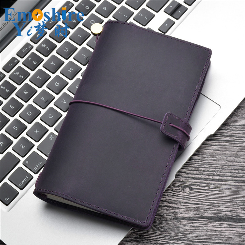 Leather Notebook Stationery Hand Account Creative Loose-leaf Journal Multi-Function Retro Business Notebook Customization N157 2018 fashion business notebook business loose leaf notebook a5 notebook with calculator multi functional loose leaf