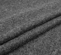 Knit Pure Plush Wool Fabric Soft Fabric Dark Gray Color Fashion Fabric Sew For Coat Cape