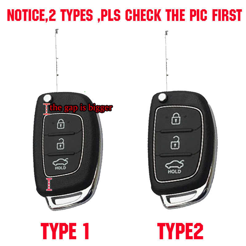 Siliconen Autosleutel Geval Voor Hyundai Elantra Tucson I40 I20 I10 IX35 IX45 Creta Santa Fe H-1 Cover Keyless Remote fob 3 Knop