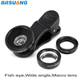 500pcs/lot 3in1 Fish Eye Universal Mobile Phone Clip Lens Fisheye Wide Angle Macro for iPhone 4s 5s 6 6s plus HTC Samsung MEIZU