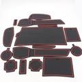 Dongzhen Non-Slip Interior Cup Cushion Door Mat Cup Mat Fit For Nissan Qashqai 2016 Silicon 15pcs Per 1set Car Covers
