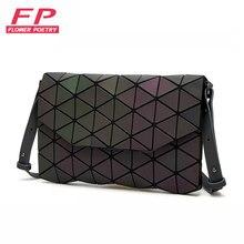 ccf128f5c0388 Nowy Luminous kobiety wieczór torba małe torby na ramię dziewczyny Bao torba  torebka z klapką geometryczne Bao panie Casual sprz.