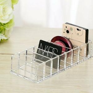 Multifunction Clear Acrylic Makeup Holder Compact Powder Eye Blush Storage Box Transparent Multi Slots Cosmetic Organizer Case 3