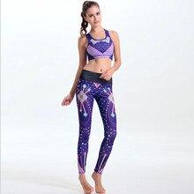 3D Print Yoga Sets Fitness Bra+Yoga Pant Workout Star Sportswear Yoga Suits Sport Sets