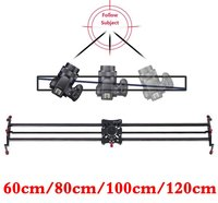 Professional 60/80/100/120cm Camera Video Slider Carbon Fibre Follow Focus Track Dolly Rail Systems for DSLR Photography Studio