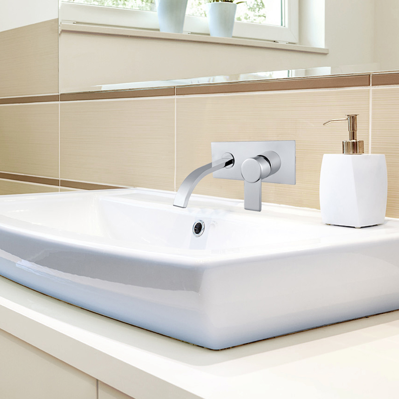 Superfaucet Wall Mounted Waterfall Bathtub Faucet Wall Faucet Bathroom Waterfall Faucet Bath Mixer HG-1190DC