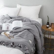 Новое однотонное розовое серое покрывало, летнее одеяло, одеяло, покрывало для кровати, одеяло, домашний текстиль, подходит для детей и взрослых