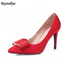 New Woman Red Wedding Pumps Fashion Sexy Classic Red High Heels Pointed Toe Genuine Leather Sweet Party Dress Shoes XZL-A0022 cocoafoal woman green high heels shoes plus size 33 43 sexy stiletto red wedding shoes genuine leather pointed toe pumps 2018