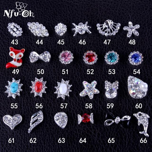 20pcs/lot metal nail art decoration, free shipping, 64designs, nail art decal, nail art sticker with rhinestones