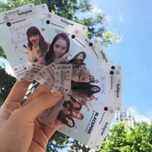 8 pçs/set foto kpop cartão transparente mulher grupo estrela diy papel foto cartão