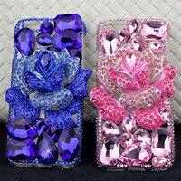 Luksusowe gem diament Rhinestone Dla iPhone 7 Plus 6 S 6 Plus 5 5S SE phone case new fashion pokrywa ochronna, odporna na wstrząsy anti-puk