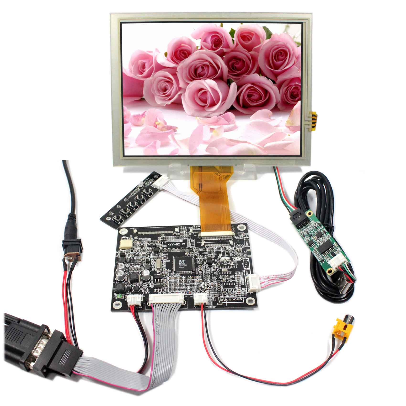 VGA AV LCD Controller Board KYV-N2 V1+8inch 800x600 EJ080NA-05B LCD With Touch Panel hdmi vga av audio usb lcd controller board 8inch 800x600 ej080na 05a touch lcd screen