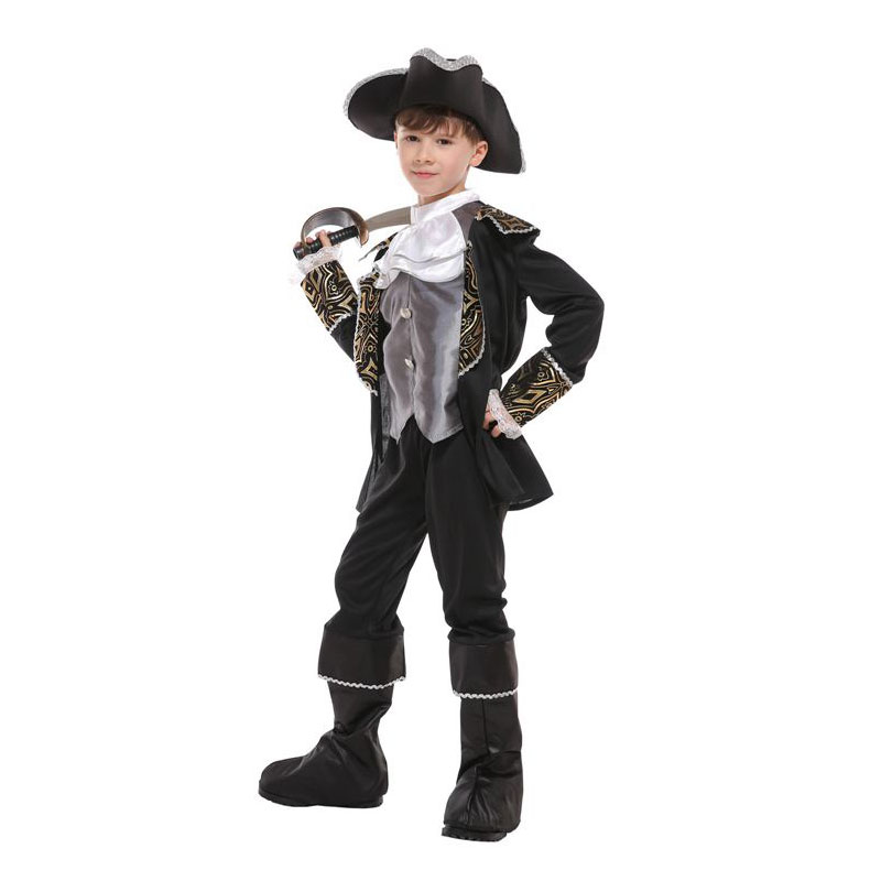Boy Boys Swashbuckler Costumes Royal Pirate Captain Costume for Kids Children Halloween Purim Party Carnival Cosplay in Boys Costumes from Novelty Special Use
