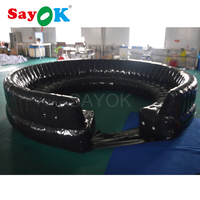 4.8m PVC black cheap inflatable sofa inflatable chair for inflatable planetarium dome use