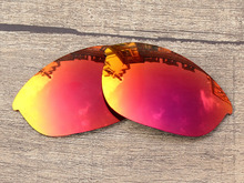 Fire Red Mirror Polarized Replacement Lenses For Half Jacket Sunglasses Frame 100% UVA & UVB Protection