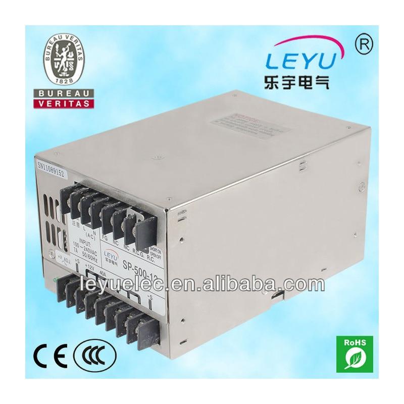 CE ROHS authentication power SP-500-12 single output 40A 12V switching power supplyCE ROHS authentication power SP-500-12 single output 40A 12V switching power supply