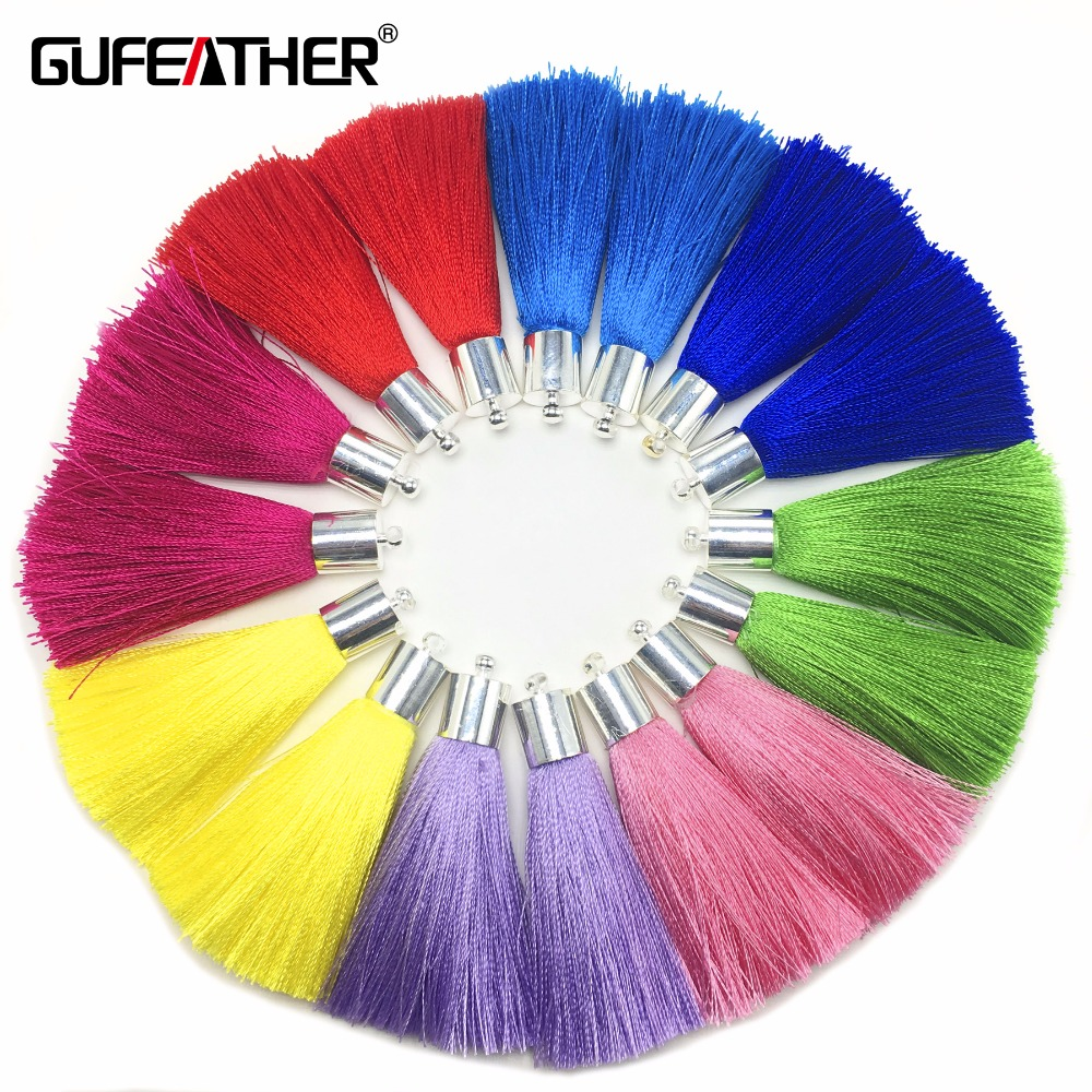 GUFEATHER L92/5cm/Silk Taseels/jewelry Accessories/accessories Making/diy/hand Made/jewelry Findings/embellishments/4pcs