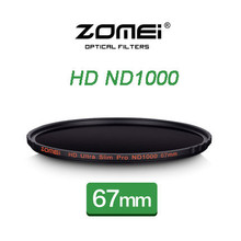 New Zomei 67mm Ultra Slim MC ND1000 ND3.0 1000X 10 Stop Sliver Rimmed Glass Neutral Density ND Filter for Canon Nikon Sony lens