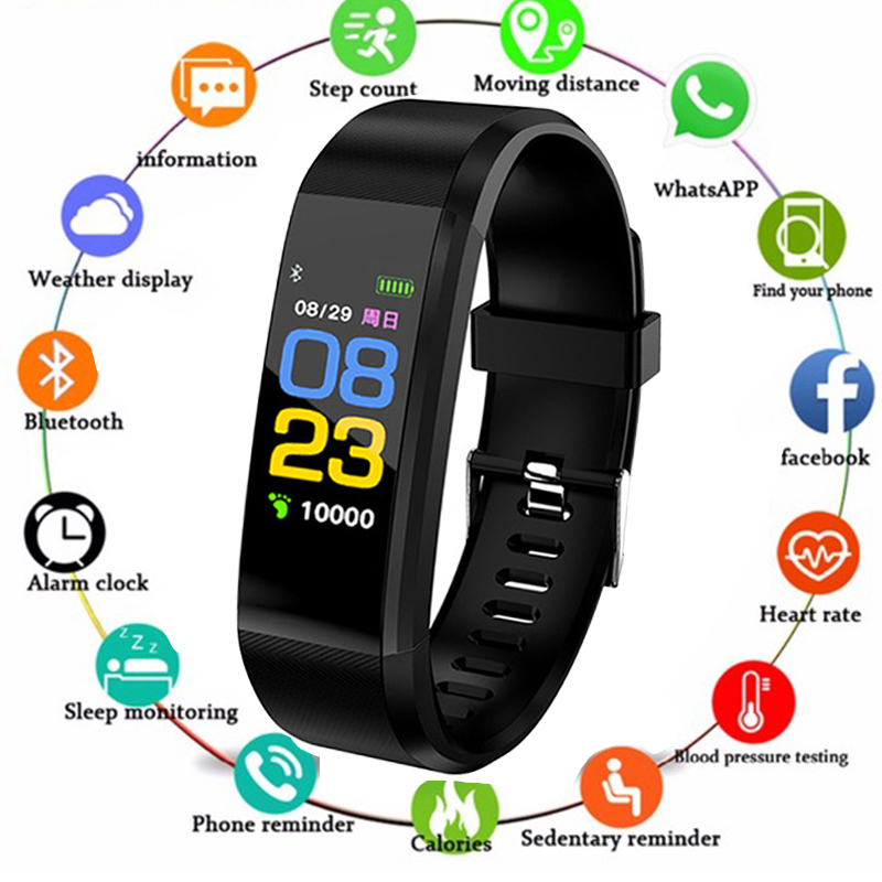ID115 Plus Smart Wristbands Health Monitor Heart rate/Blood Pressure/Pedometer Bluetooth Waterproof Sports Bracelet Band PK M3
