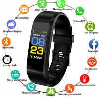 ID115 Plus bracelets intelligents moniteur de santé fréquence cardiaque/pression artérielle/podomètre Bluetooth étanche sport Bracelet bande PK M3