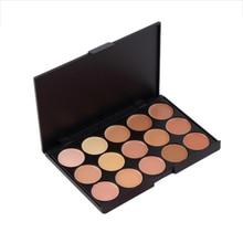 15 Colors Pro Makeup Concealer Palette Face Eye Body Contour Camouflage Base Foundation Cream Gel Cosmetic Beauty Platte