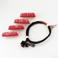 READXT двери автомобиля Предупреждение Свет Интерьер лампы огни + кабель провод для VW Jetta Golf Mk5 6 MK7 Passat B6 B7 Tiguan Superb 3AD947411