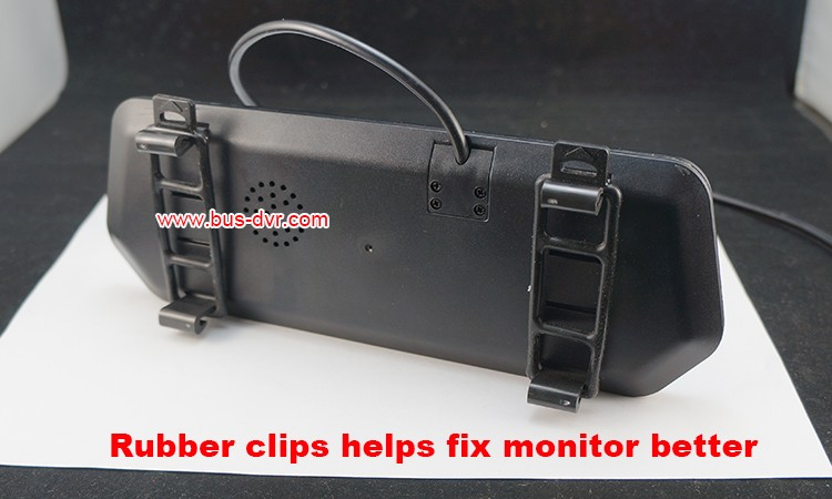 monitor with rubber clip