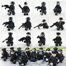 World War II Series Army Figures Guns Battlefield Weapons Accessories 100% Compatible Legoings Building Blocks Ww2 Toys Set YF30(China)
