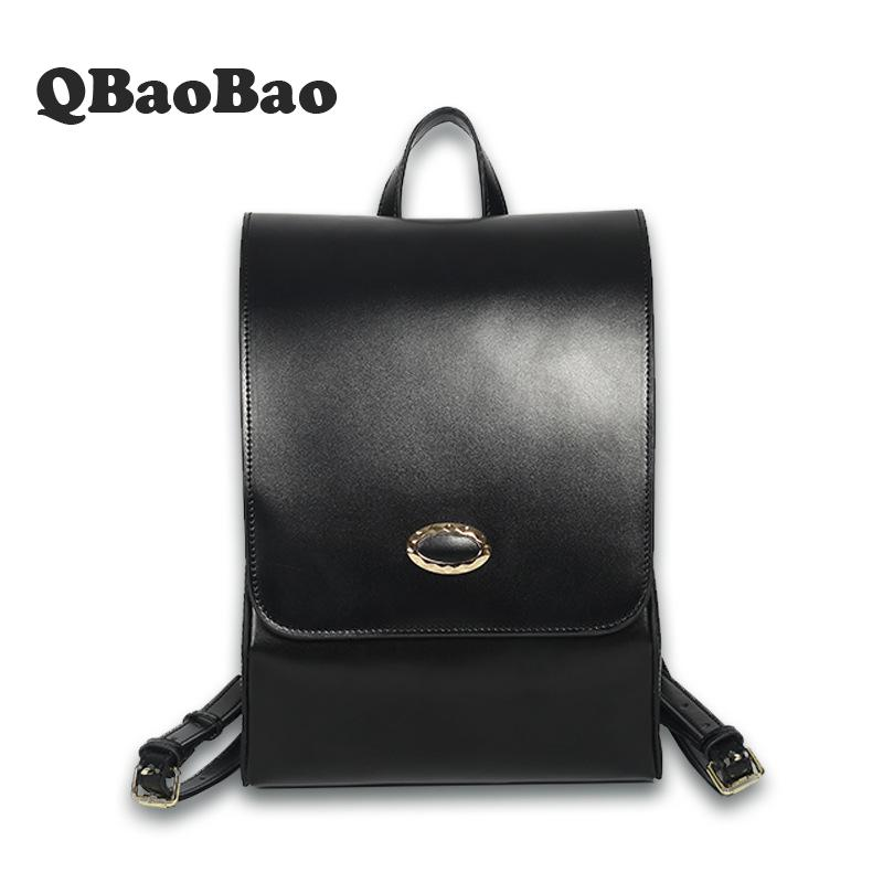 Fashion Korean Women Backpack Leather School Bags For Teenagers Girls Top Handle Backpack Rucksack Mochila Feminina High Quality