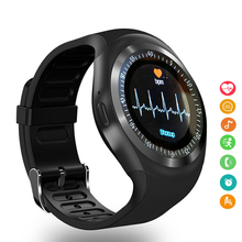 Y1 Smart Watch Relogio Smartwatch Bluetooth Android Phone Call GSM Sim Remote Camera Information Sports Pedometer
