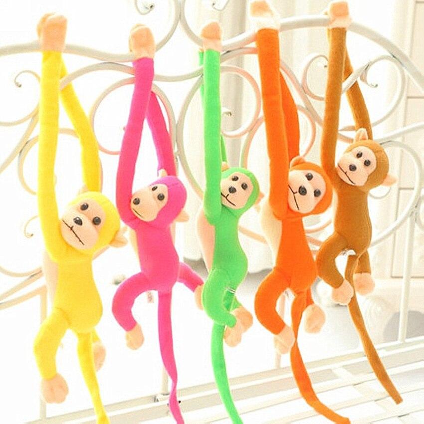 60cm Monkey Doll Plush Toys Stuffed Doll Long Arm Tail Monkey Curtains Baby Sleeping Appease Animal