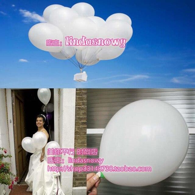 Balloon style circle to balloons birthday transparent white 10 thick matt 20